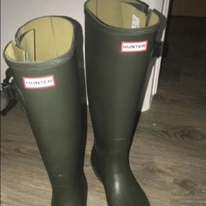 2for470🛍Army green Hunter  boots for wide calf